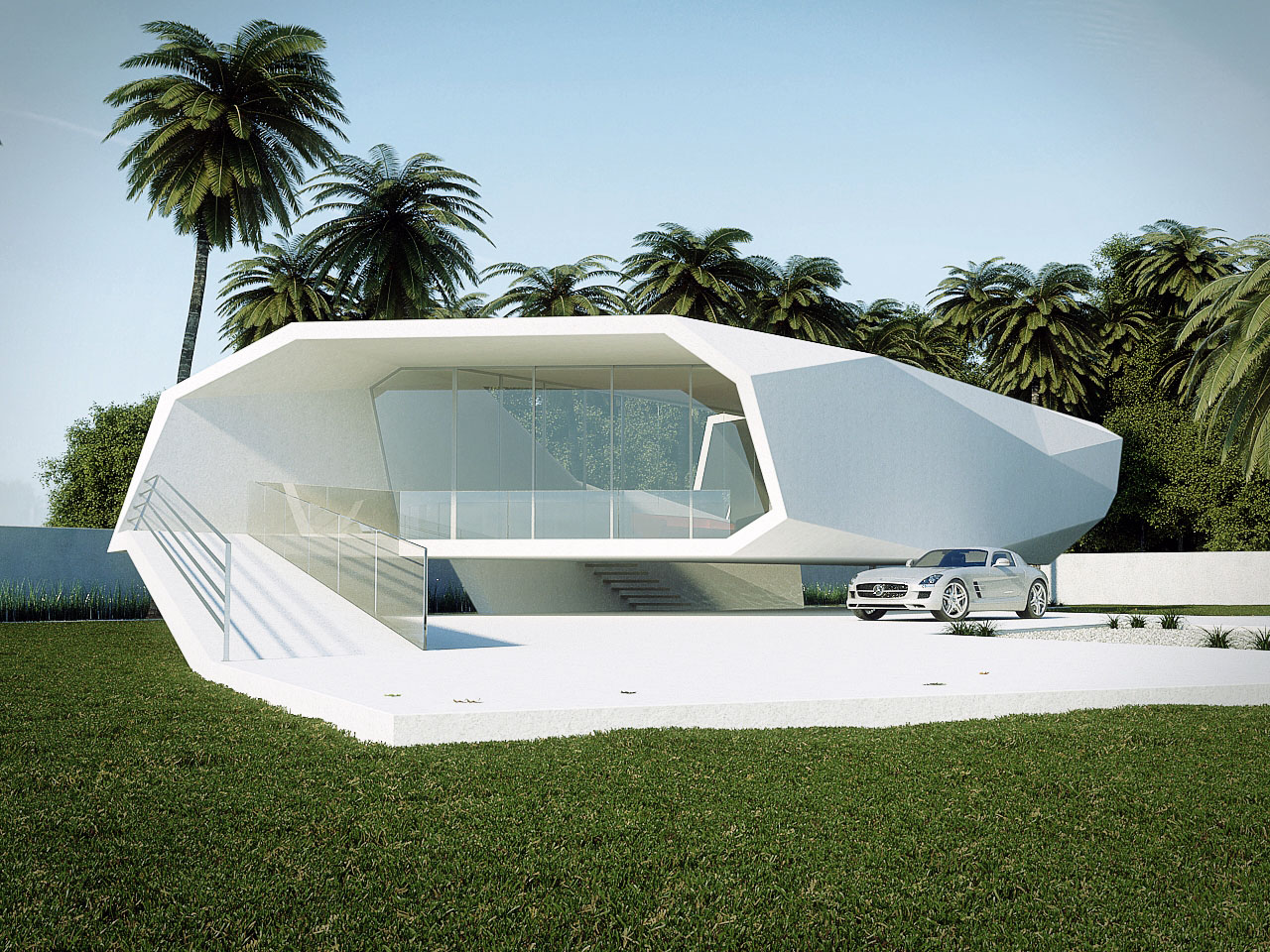 The bold wave house concept by gunes peksen for Concept home builders