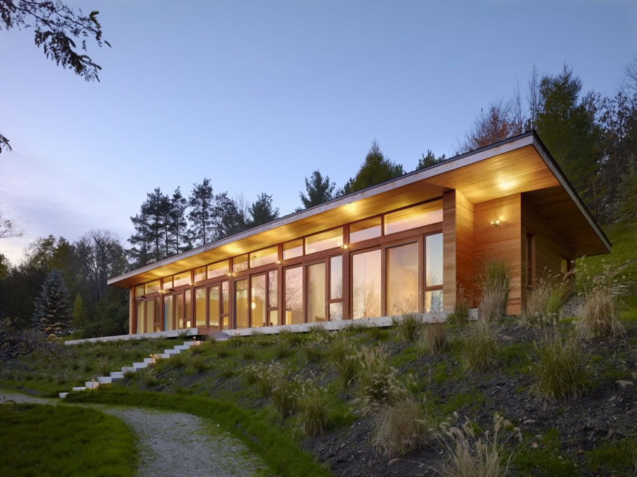 eco friendly house in mulmur ontario canada by superk l