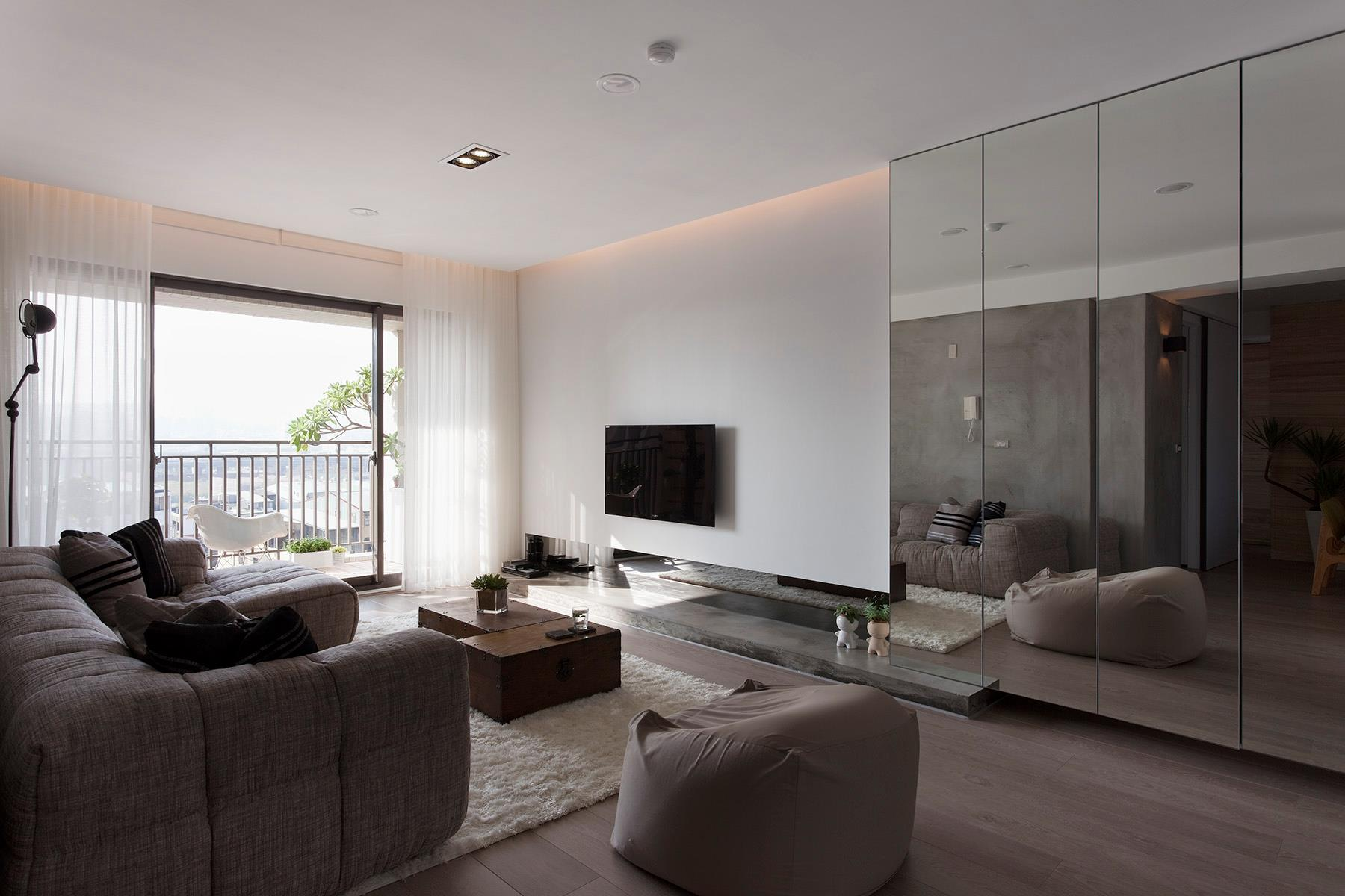 Minimalist apartment in taiwan by fertility design for Minimalist apartment design