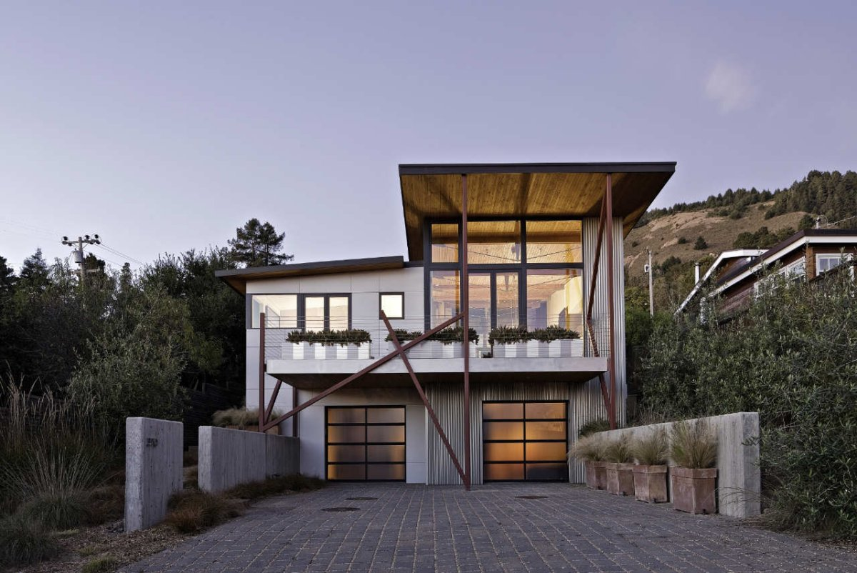 Californian beach house designed by wa design for Coastal style house plans