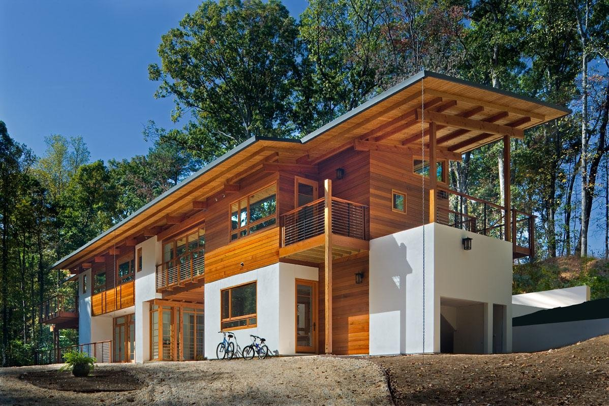 Greenland road home in atlanta 2 for Wood house architecture
