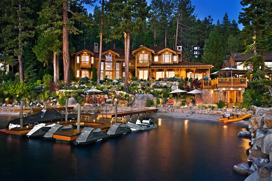 Wild lake tahoe estate in nevada united states for Luxury lake tahoe homes for sale