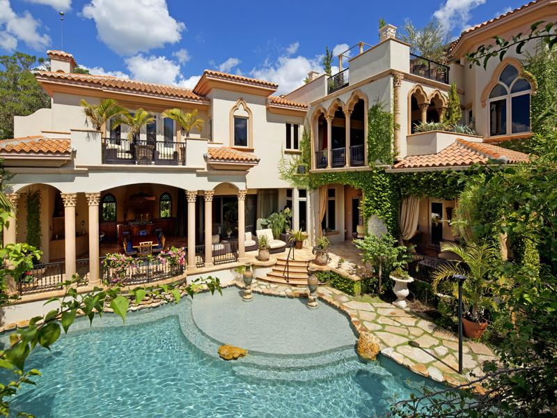 Opulent siesta key mediterranean in florida united states Mediterranean homes for sale