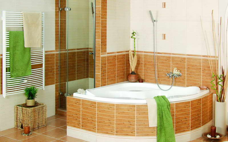 Bathroom decorating ideas on a budget with angle design for Home interior design ideas on a budget