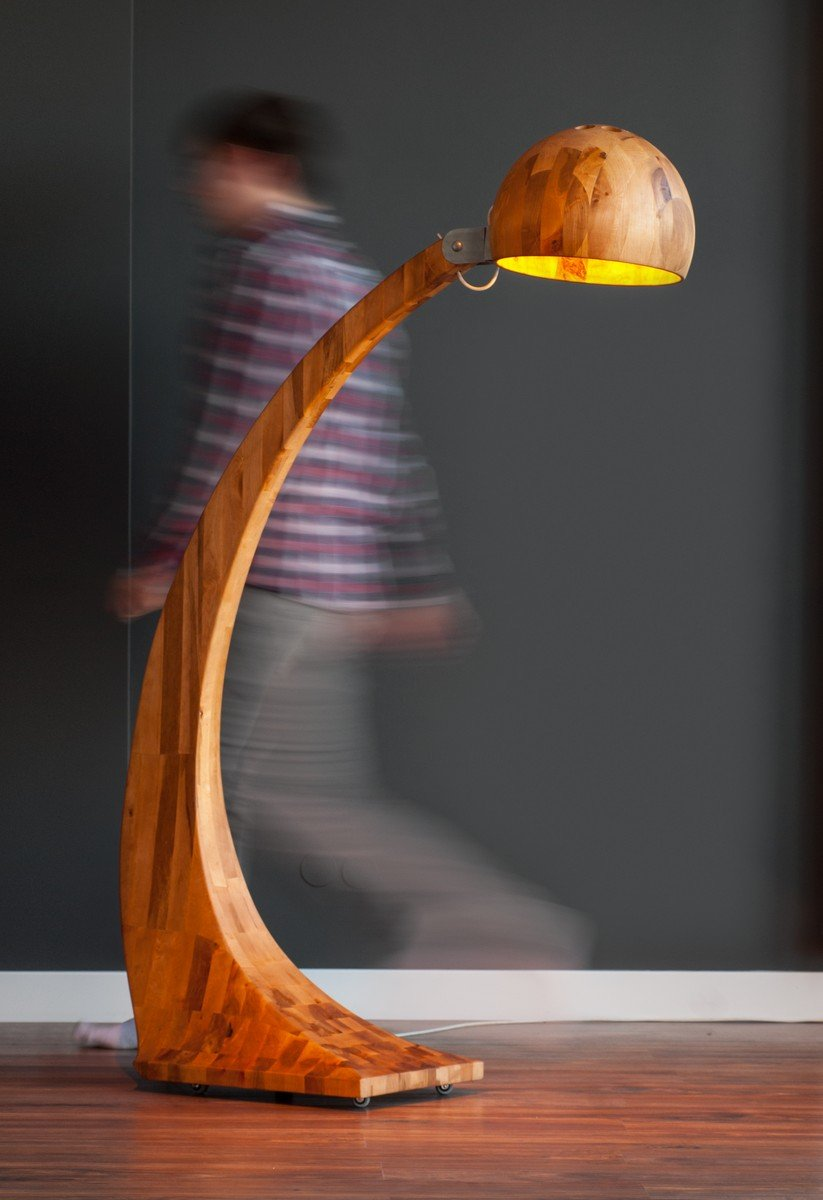 Contemporary Woobia Wooden Lamp by ABADOC