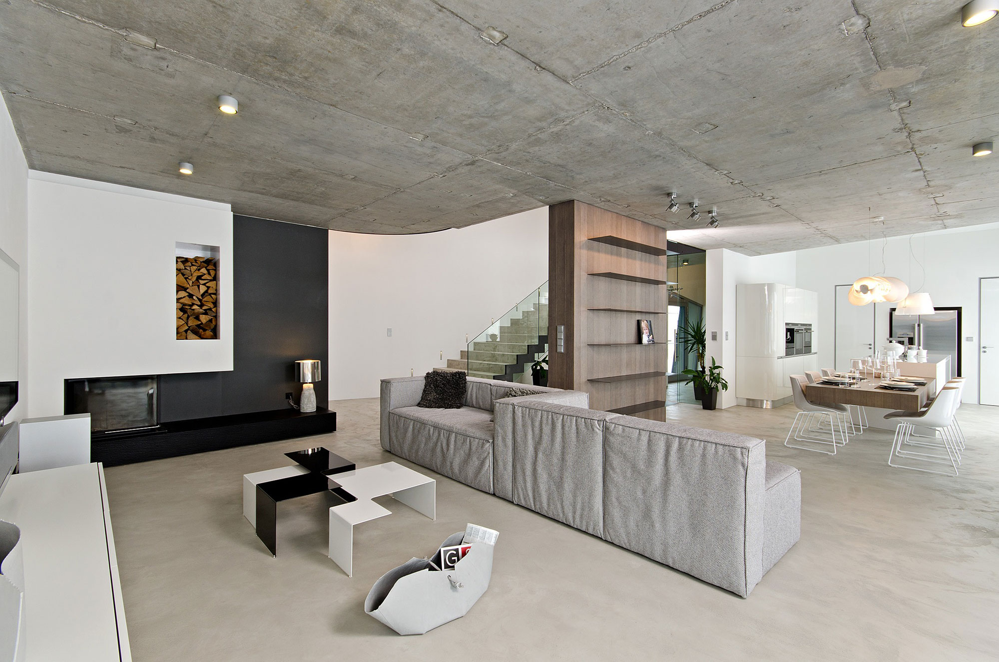 Modern concrete interior by ooox for Modern interior