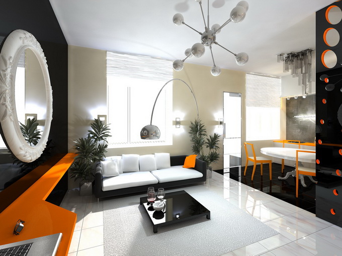 Orange And Black Living Room The Best Living Room Ideas Part 18