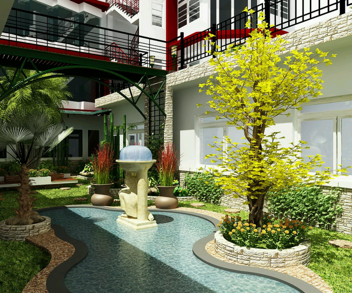 Modern garden design ideas 10 for Modern garden design ideas