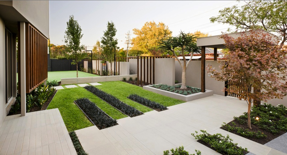 Modern garden design ideas for Modern house garden