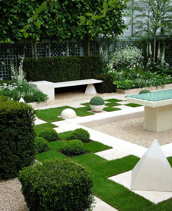 garden design with modern garden design ideas with fire pit in backyard from myfancyhousecom