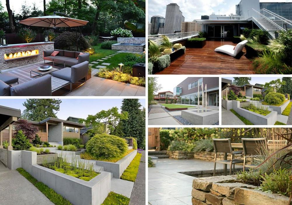 Modern garden design ideas 9 for Modern back garden designs