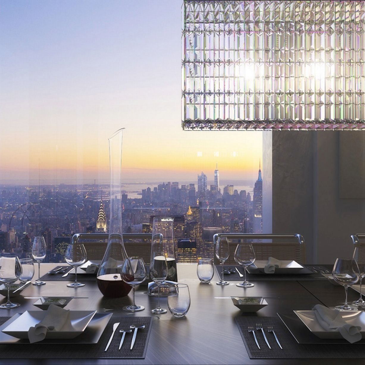Glorious 432 park avenue skyscraper in new york usa for 10x10 dining room