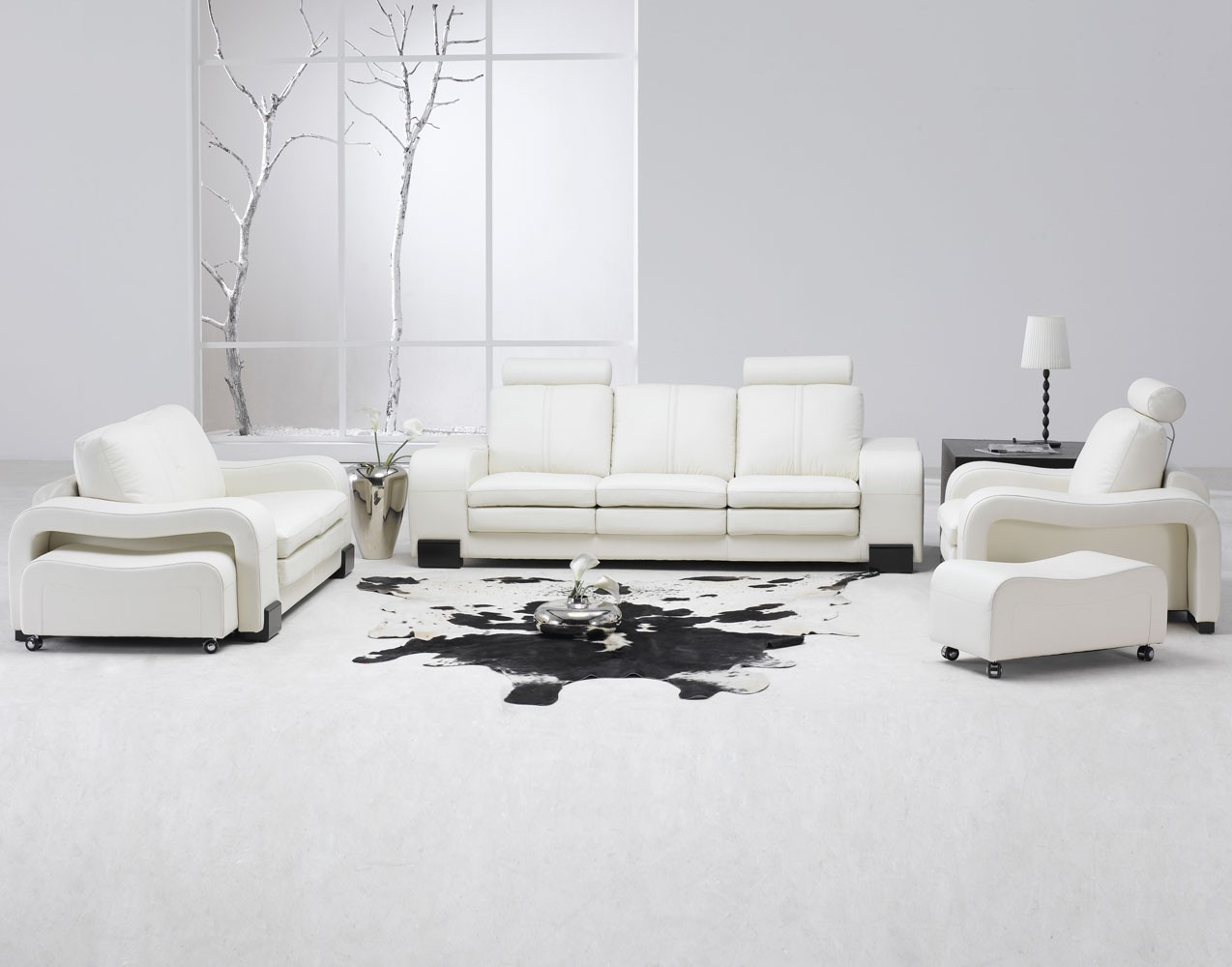 All white interior design mixed with feng shui for All about interior design