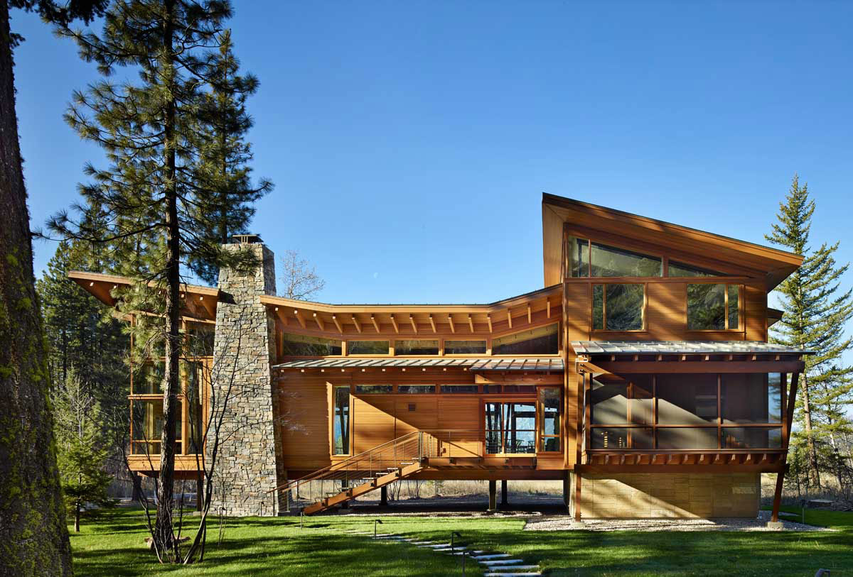 Elegant mazama house in methow valley washington Wood valley designs
