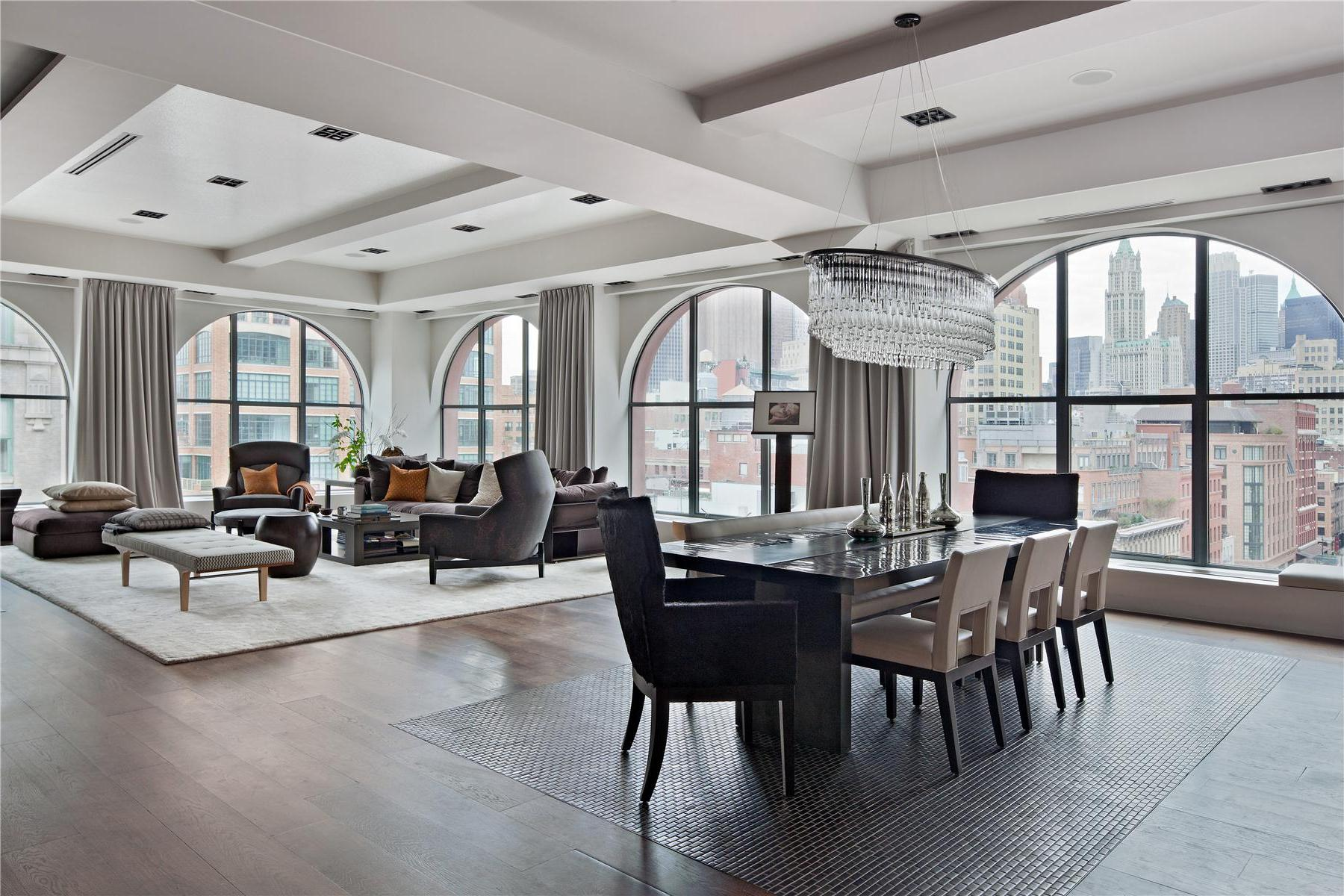 two luxurious lofts on sale in tribeca new york 10