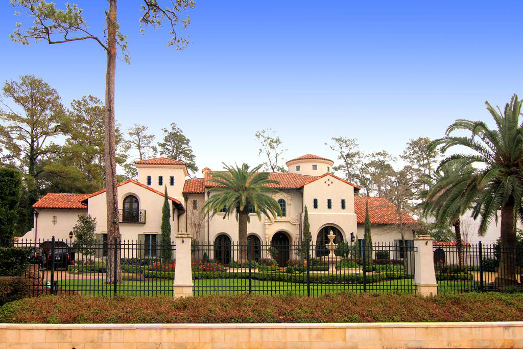 Opulent mediterranean style mansion in texas 3 Mediterranean style homes houston