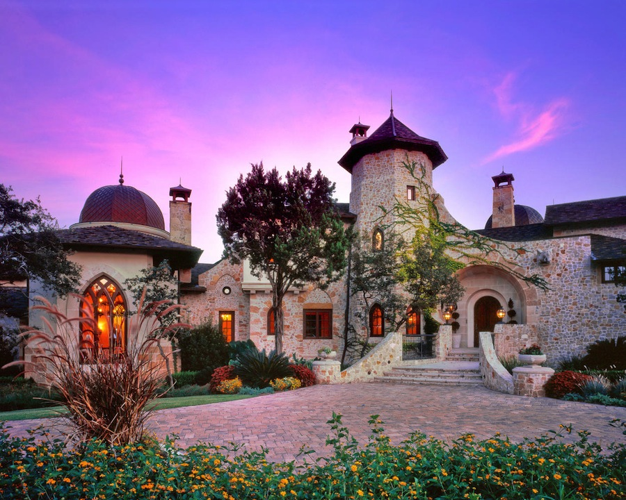 Grandiose castle in the woods in austin texas for Texas cabins in the woods