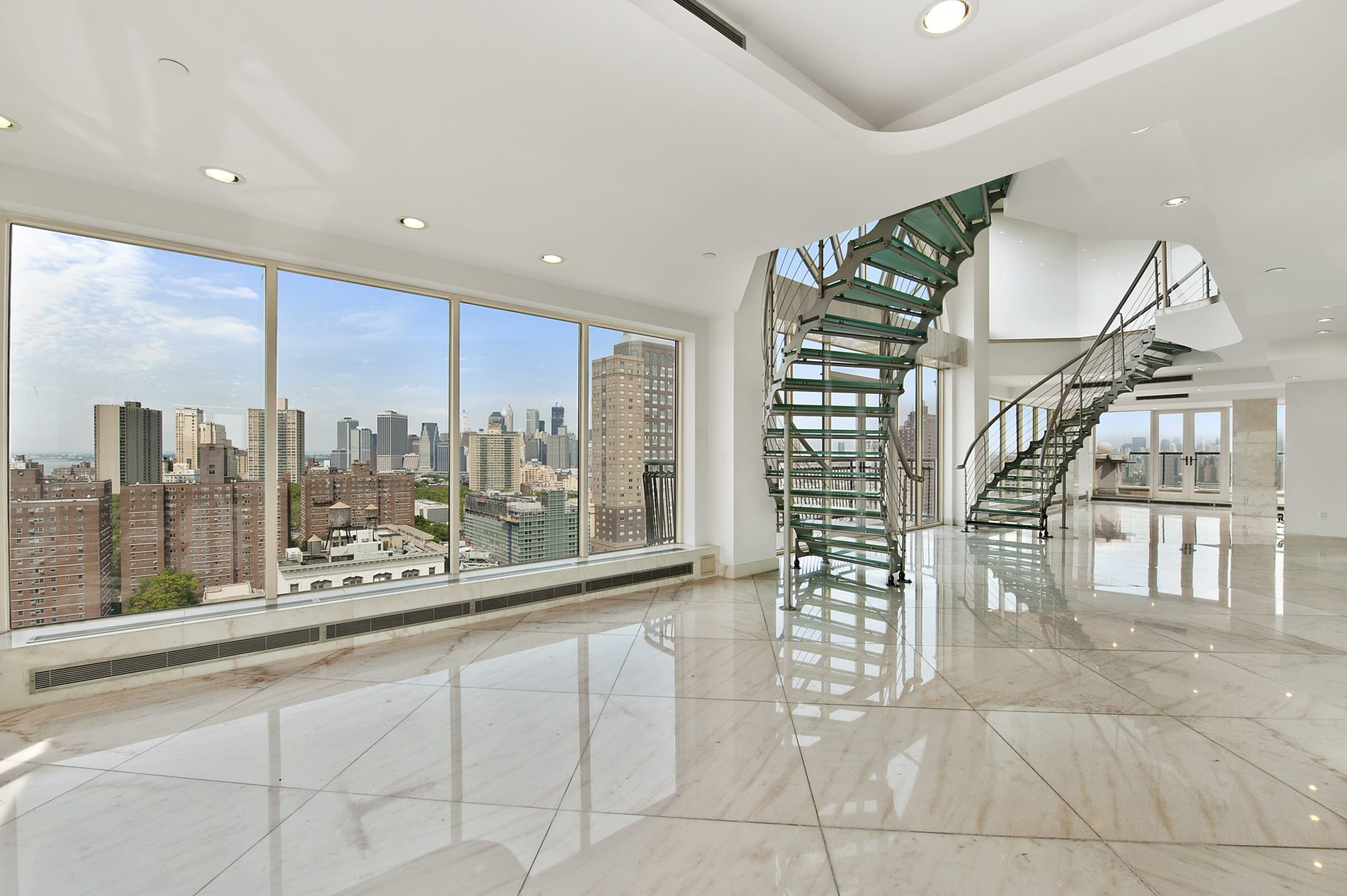 Magnificent duplex penthouse in brooklyn 3 Floor to ceiling windows for sale