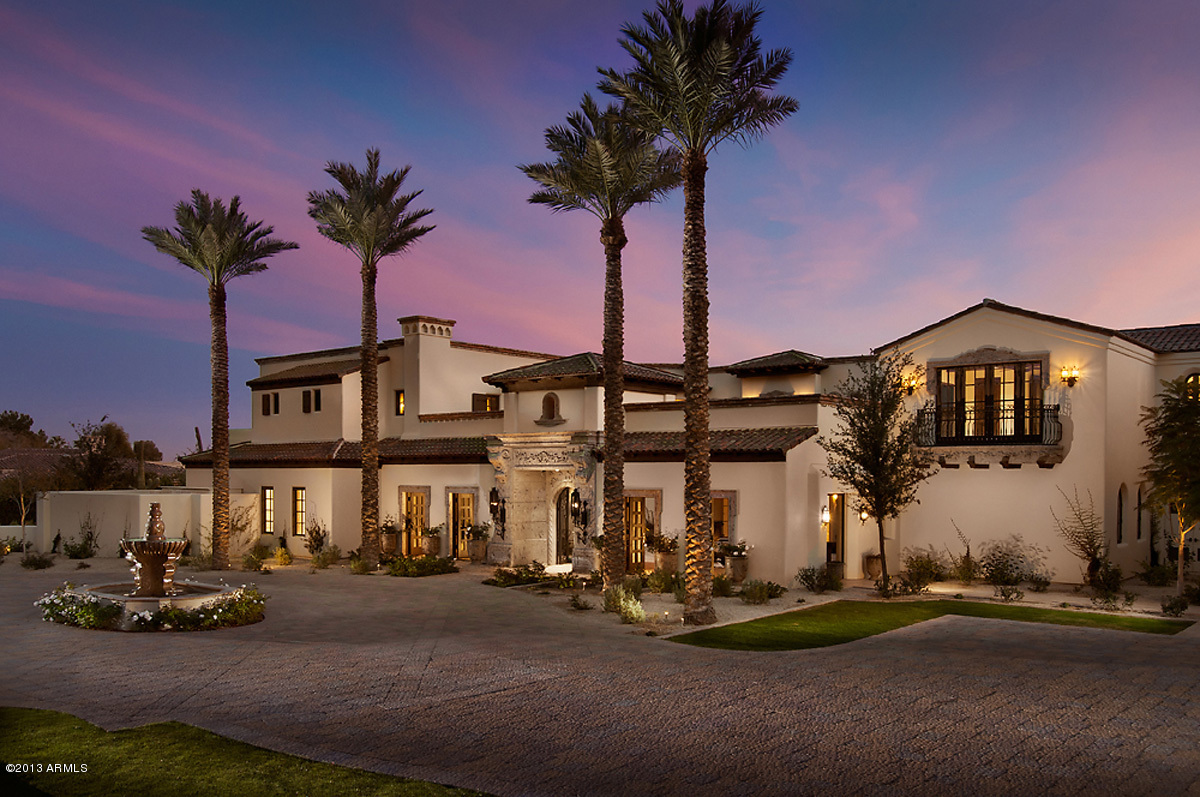 Santa Barbara Style Home In Paradise Valley Phoenix