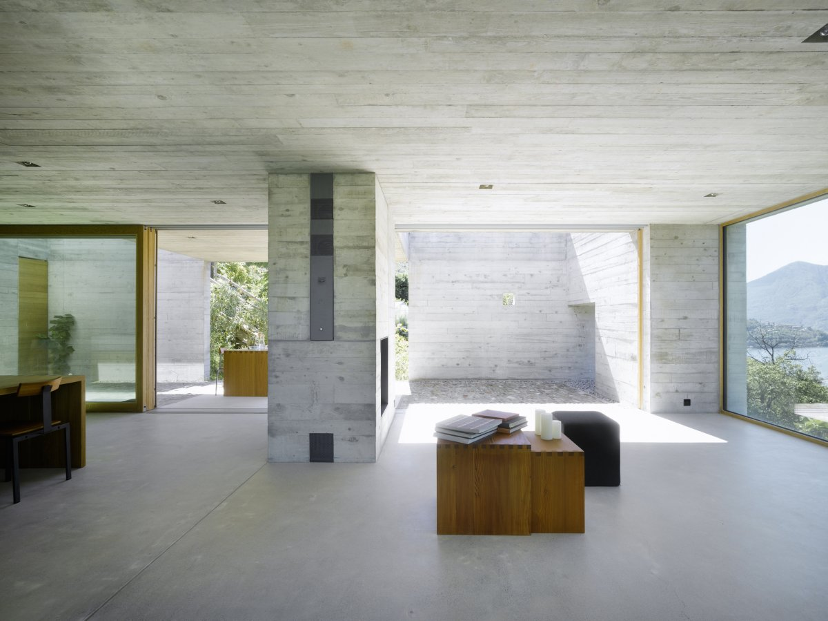 minimalist concrete home by wespi de meuron romeo architetti 7. Black Bedroom Furniture Sets. Home Design Ideas