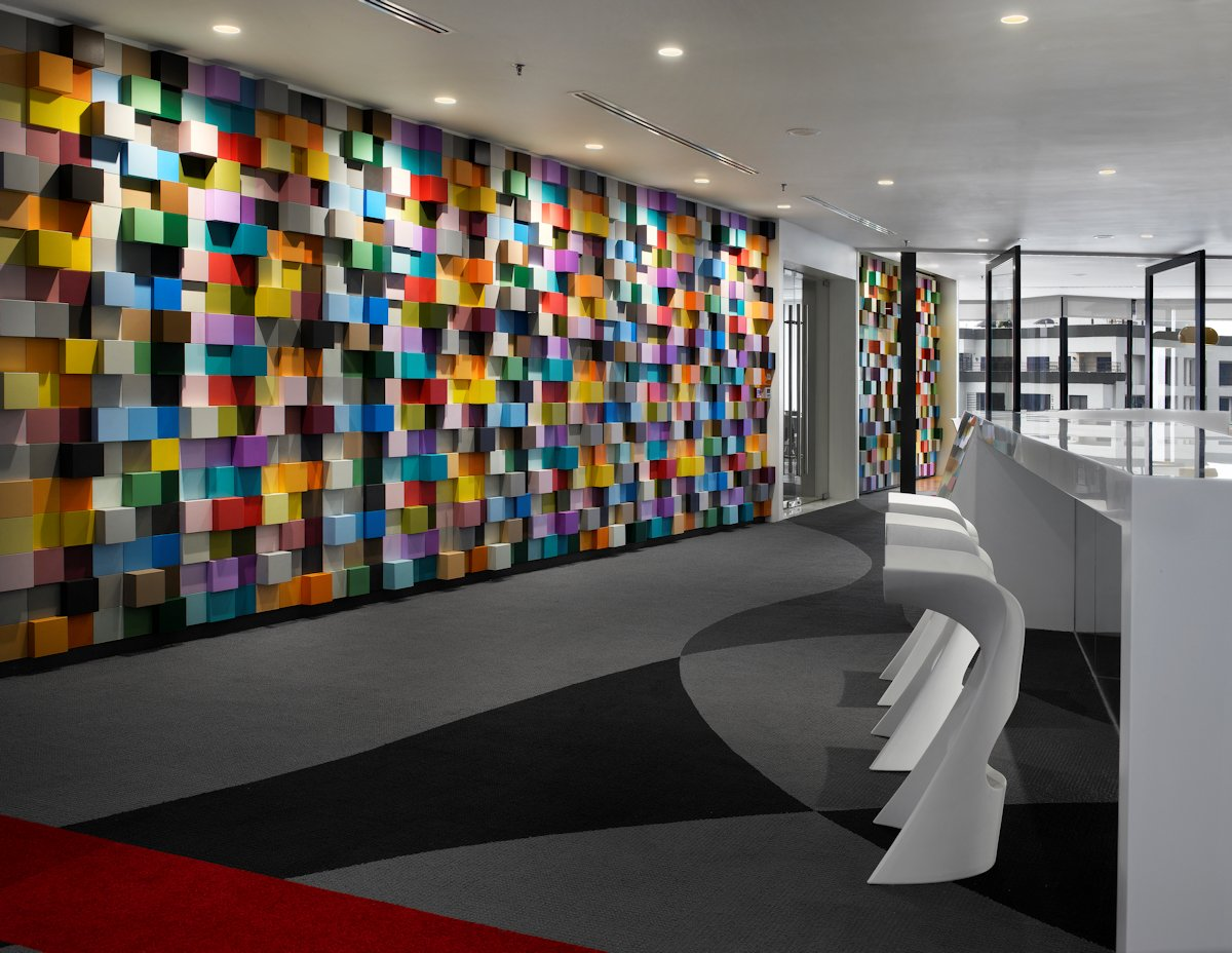 Colorful and welcoming sherwin williams office in malaysia for Sherwin williams interior design
