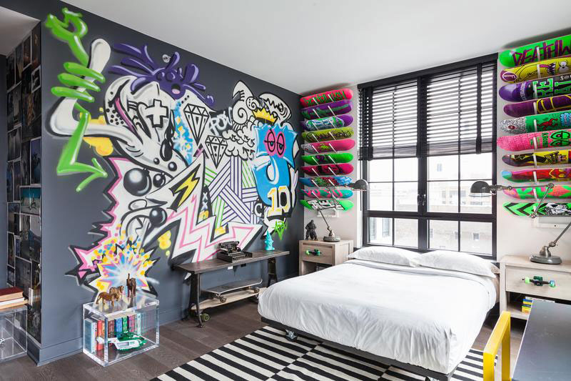 How to decorate your home with graffiti art How to accessorise your home