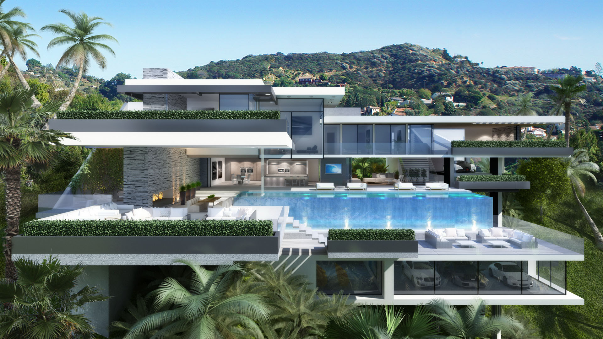Contemporary Mansions On Sunset Plaza Drive La 8