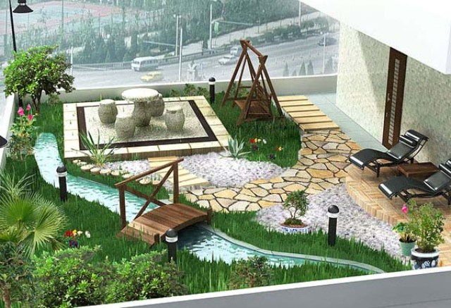 Genial Antithetical Elements U2013 Although Many Modern Gardens Are Based On A  Geometric Squaring, Curved Elements Can Be Successfully Used To Break The  Geometric Mold ...