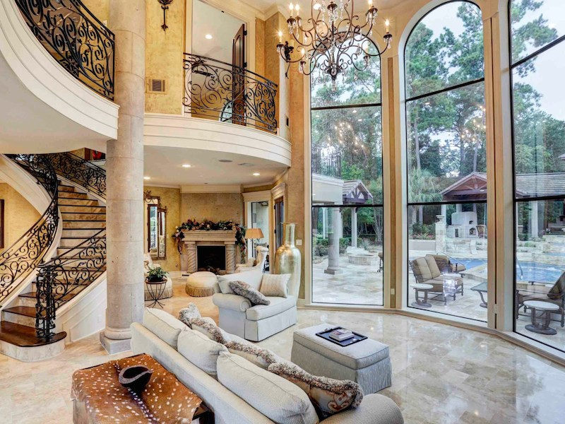 Stunning mediterranean style home in houston texas for Spanish style homes for sale near me