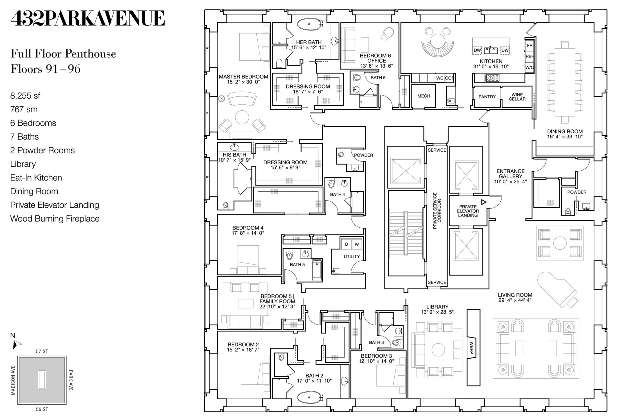 Glorious 432 Park Avenue Skyscraper In New York Usa on North Avenue Apartments Floor Plan