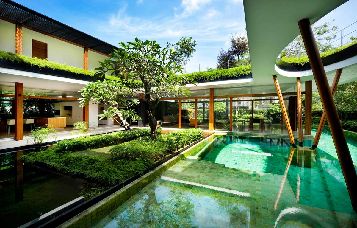 Serene water lily house in singapore - La residence exotique fish house singapour ...