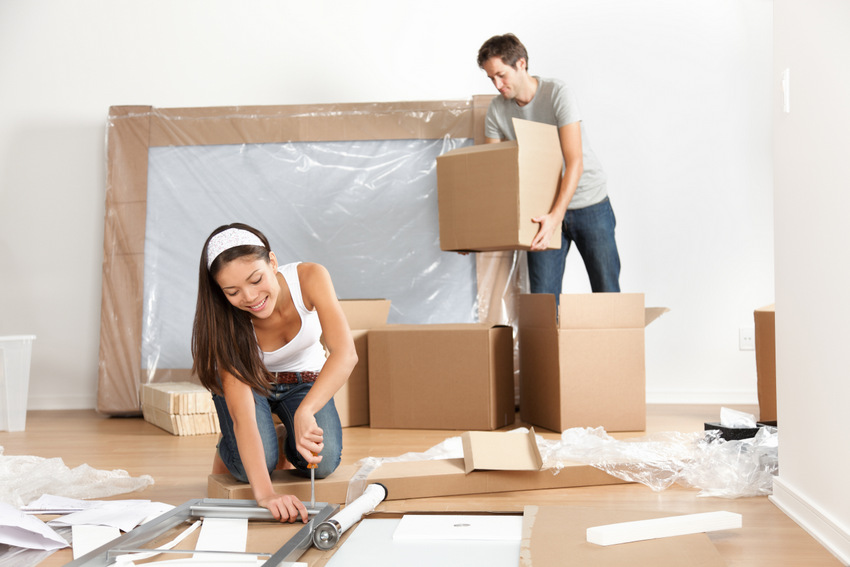 Simple ways to relieve stress when moving into a new house for Moving home pictures