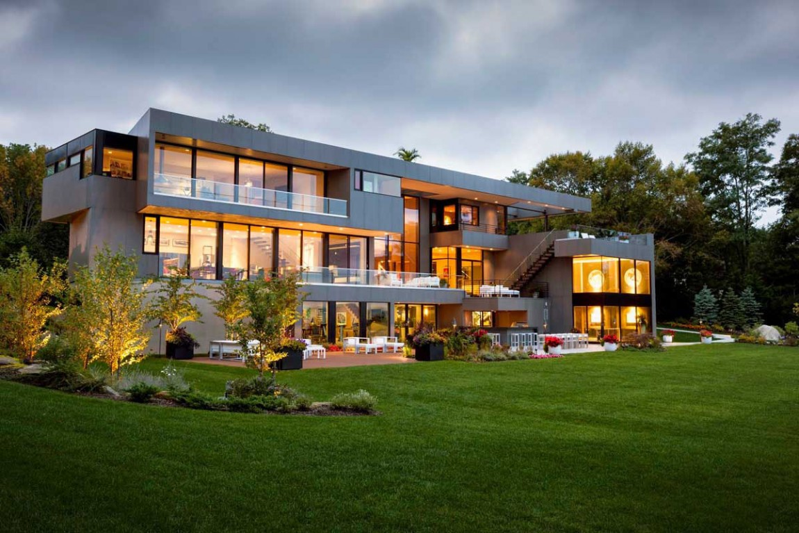 Sands point residence in long island new york for Modern house new york
